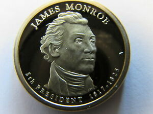 JAMES MONROE 2008 S PRESIDENTIAL 1 DOLLAR SAN FRANCISCO PROOF COIN $1 PR PF