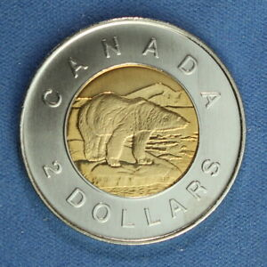 CANADA 2005 TOONIE 2$ FROM A MINT ROLL  NORMAL REVERSE