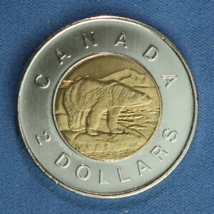 CANADA 2011 TOONIE 2$ FROM A MINT ROLL  NORMAL REVERSE