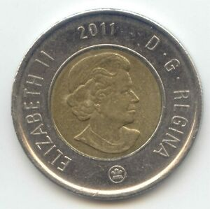 CANADA 2011 TOONIE CANADIAN $2 DOLLARS TWO DOLLAR EXACT COIN SHOWN