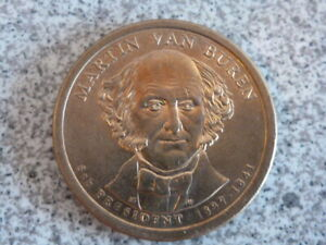 2008 D MARTIN VAN BUREN 8TH PRESIDENTIAL U.S. ONE DOLLAR COIN