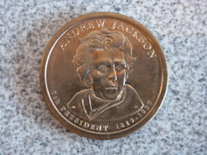 2008 P ANDREW JACKSON 7TH PRESIDENTIAL U.S. ONE DOLLAR COIN