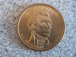 2008 P JAMES MONROE 5TH PRESIDENTIAL U.S. ONE DOLLAR COIN