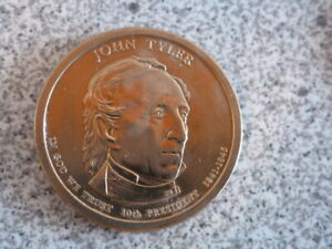 2009 P JOHN TYLER 10TH PRESIDENTIAL U.S. ONE DOLLAR COIN