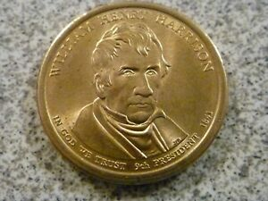2009 P WILLIAM HENRY HARRISON 9TH PRESIDENTIAL U.S. ONE DOLLAR COIN