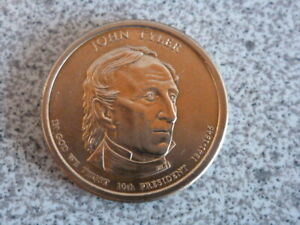 2009 D JOHN TYLER 10TH PRESIDENTIAL U.S. ONE DOLLAR COIN