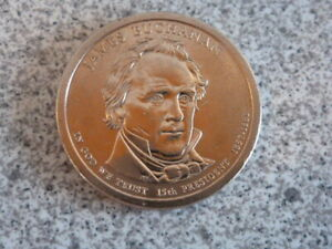2010 P JAMES BUCHANAN 15TH PRESIDENTIAL U.S. ONE DOLLAR COIN