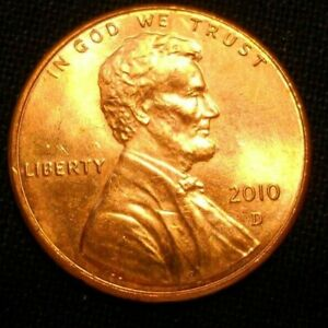 2010 D  DENVER MINT  LINCOLN CENT ONE PENNY LINCOLN SHIELD
