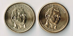 2009 P & D JAMES MONROE PRESIDENTIAL DOLLARS SET