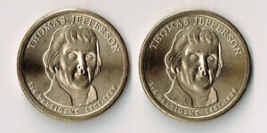 2007 P & D THOMAS JEFFERSON PRESIDENTIAL DOLLARS SET