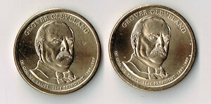 2012 P & D GROVER CLEVELAND FIRST TERM PRESIDENTIAL DOLLARS SET