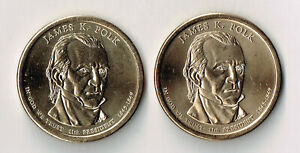 2009 P & D JAMES K POLK PRESIDENTIAL DOLLARS SET