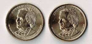 2011 P & D ANDREW JOHNSON PRESIDENTIAL DOLLARS SET