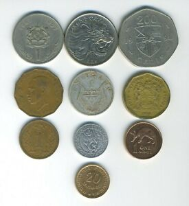 AFRICA   LOT OF 10 DIFFERENT COINS   10 COUNTRIES   GREAT STARTER   LOT AF 108