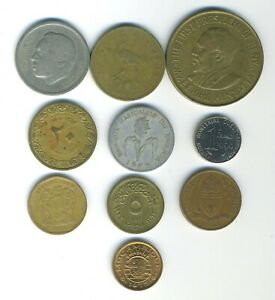 AFRICA   LOT OF 10 DIFFERENT COINS   10 COUNTRIES   GREAT STARTER   LOT AF 109