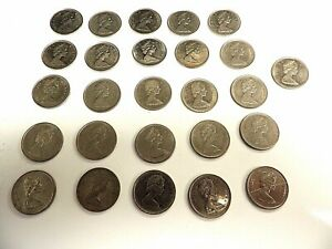 1968   1978 CANADIAN TWENTY FIVE  25  CENT COINS