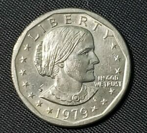 1979 P SBA SUSAN B ANTHONY $1 DOLLAR COIN  WIDE RIM NEAR DATE ERROR VARIETY