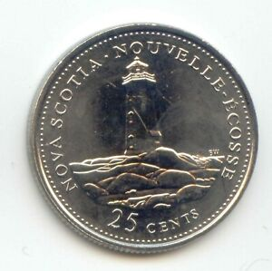 CANADA 1867   1992 NOVA SCOTIA QUARTER CANADIAN 25 CENT 25C COIN LOTB