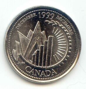 CANADA 1999 DECEMBER UNC CANADIAN QUARTER 25C UNCIRCULATED COIN LOTB
