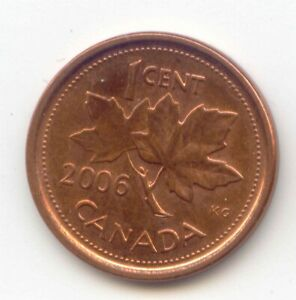 CANADA 2006 MAGNETIC MINT MARK PENNY CANADIAN 1 CENT 1C EXACT COIN SHOWN
