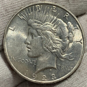 1923 S PEACE DOLLAR AU     ORIGINAL LUSTER