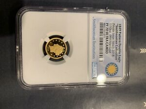 2018  1849 PATTERN DOUBLE EAGLE SMITHSONIAN 1/10 OZ .999 GOLD NGC PF 70 UC