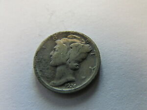 1924 S MERCURY DIME SAN FRANCISCO MINT 10 CENTS SILVER WINGED LIBERTY COIN 10C