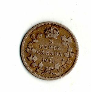 1911 CANADA 5 CENTS SILVERCOIN    6926
