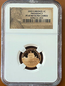 2009 S PROOF LINCOLN CENT PRESIDENCY NGC PF69UCAM PF 69 ULTRA CAMEO RED