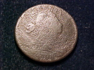 1798 DRAPED BUST LARGE CENT; SHELDON 164; GOOD DETAIL; PITTED FROM CORROSION