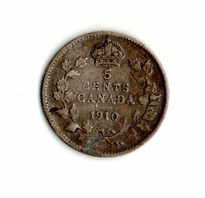 1910 CANADA 5 CENTS SILVERCOIN    7020