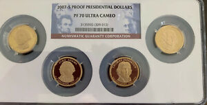 2007 S 4 COIN PRESIDENTIAL DOLLARS SET NGC PF70 ULTRA CAMEO UC MULTI COIN HOLDER