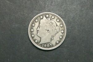 1907 WITH CENTS LIBERTY V NICKEL US COIN M1211