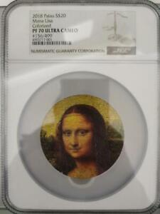 Click now to see the BUY IT NOW Price! NGC PF70 PALAU 2018 MONA LISA SMILE GREAT MICROMOSAIC PASSION SILVER COIN 3OZ