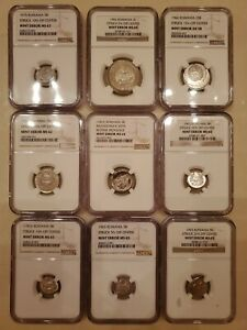 Click now to see the BUY IT NOW Price! ROMANIA 9X NGC ERROR COINS OFF CENTER 1963 1966 1975 BANI LEI  RPR RSR