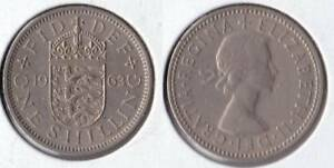 1963 GREAT BRITAIN 1 SHILLING COIN ENGLISH VERSION
