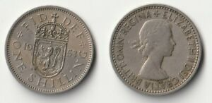 1953 GREAT BRITAIN 1 SHILLING COIN SCOTTISH VERSION