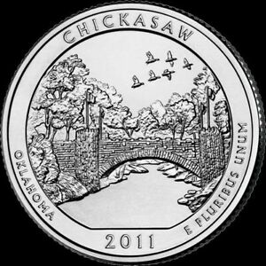 2011 D MINT CHICKASAW NATIONAL PARK QUARTER OKLAHOMA BRILLIANT UNCIRCULATED ATB
