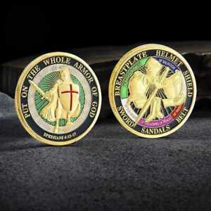 COLLECTION COMMEMORATIVE COIN THE CHALLENGE ARMOR COINS GIFT PUT GOD OF WHOLE US