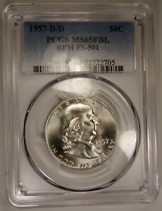 1957 D  D/D  RPM FS 501 PCGS MS65FBL BLAZING WHITE BEAUTY CHERRYPICKERS VARIETY