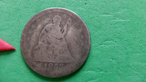 1853 ARROWS & RAYS SEATED LIBERTY QUARTER    ONE YEAR TYPE AG BUT DETAILS THERE