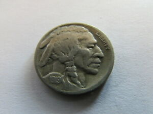 1919 S BUFFALO NICKEL SAN FRANCISCO MINT 5 CENTS BISON INDIAN COIN 5C