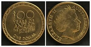 2014 AUS $1 CENTENARY OF ANZAC 2014 2018 COIN AS PICTURED T214