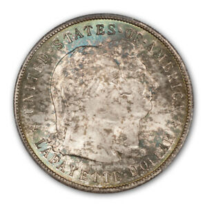 Click now to see the BUY IT NOW Price! LAFAYETTE 1900 $1 SILVER COMMEMORATIVE PCGS MS66
