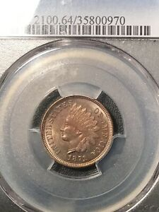 PCGS MS64BN 1871 INDIAN HEAD CENT PENNY TOUGH SUPER NICE BEAUTIFUL