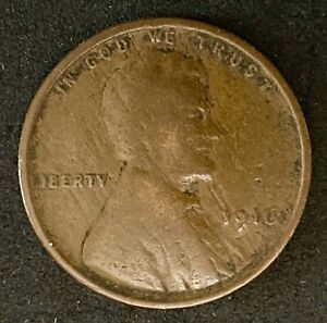 1916 LINCOLN   WHEAT EARS REVERSE 1 CENT CIRCULATED COIN   1662