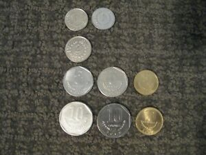 LOT OF COSTA RICA COLONES COINS  2  1S  1  2  3  5S  3  10S CIRCULATED G /EX