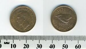 GREAT BRITAIN 1939    1 FARTHING  BRONZE COIN   KING GEORGE VI