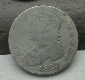 1829   50C CAPPED BUST HALF DOLLAR    EARLY US COIN TOUGH DATE