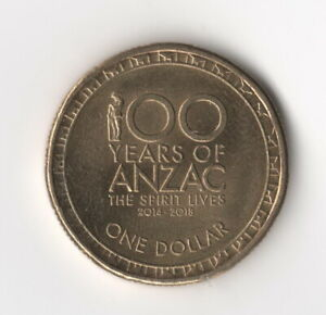 2017 $1 ONE DOLLAR COIN   100 YEARS OF ANZAC THE SPIRIT LIVES       FREE POST